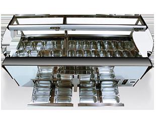 Linea arredamento vetrina gelato Kuadra