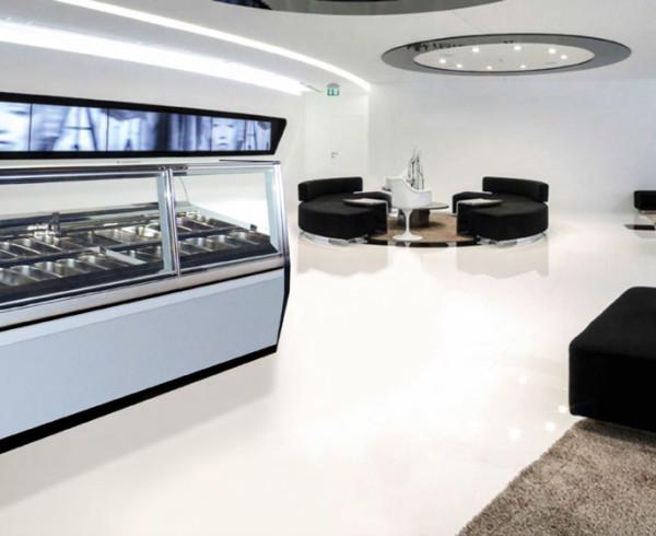 Vetrina gelato Kuadra, perfetta per un ambiente moderno