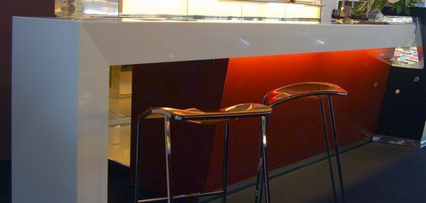 banco bar usato per esposizione in Rimini fiera