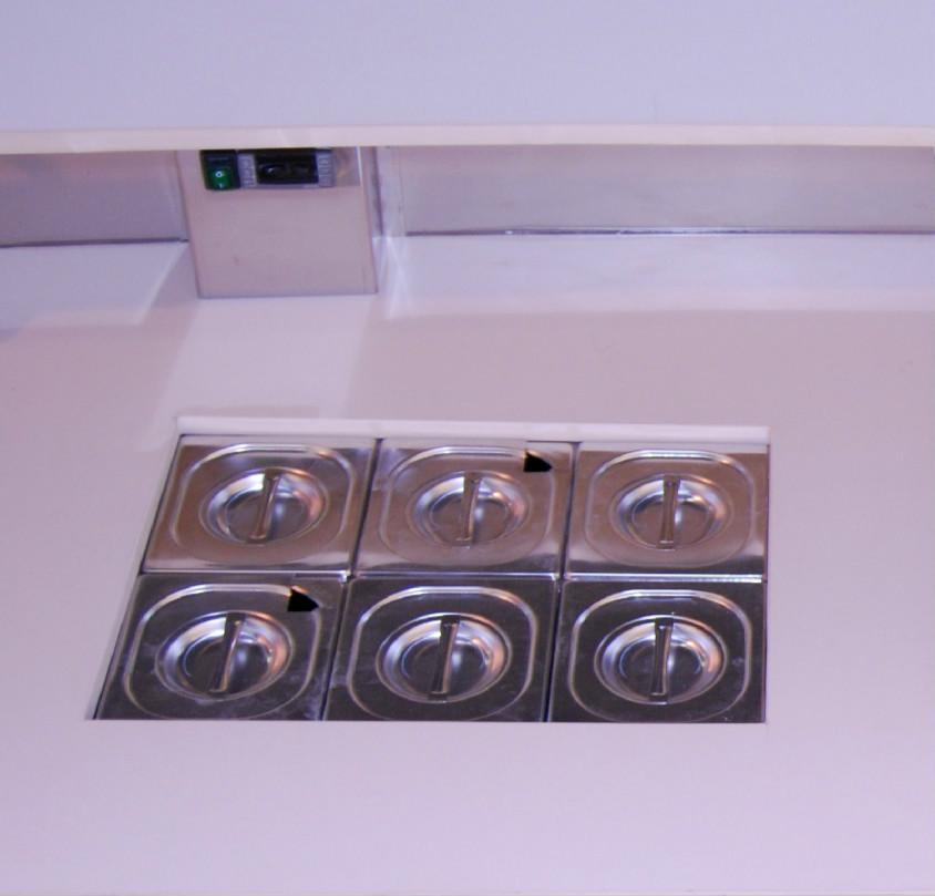 vasca per fruttini bancobar gelateria